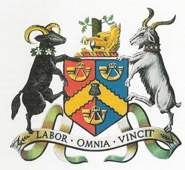 The original city of Bradford coat of arms as granted to the city in 1907.