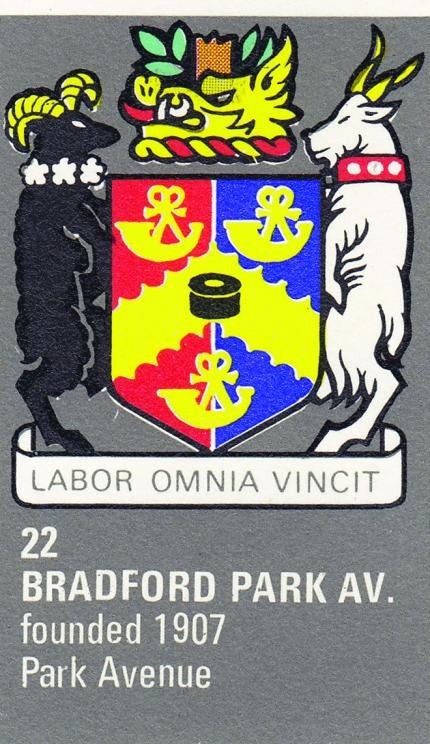 Bradford (Park Avenue) crest 1971/72