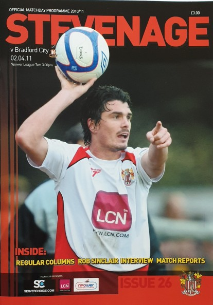 Stevenage Away 2010-11