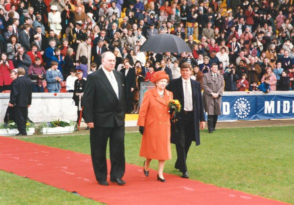 Her Majesty the Queen officially opened the new Midland Road stand on 27 March 1997.